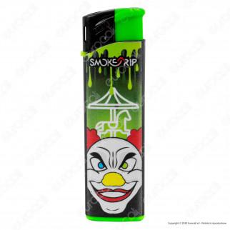 SmokeTrip Accendini Elettronici Ricaricabili Fantasia Psyco Clown - Box da 50 Accendini