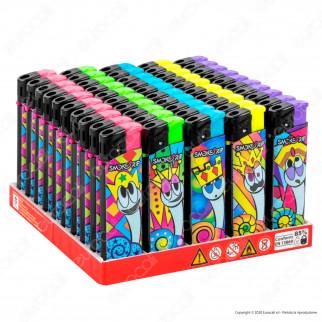 SmokeTrip Accendini Elettronici Ricaricabili Fantasia King Snail - Box da 50 Accendini