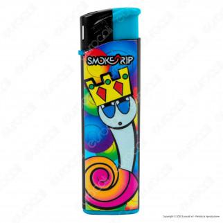 SmokeTrip Accendini Elettronici Ricaricabili Fantasia King Snail - 5 Accendini