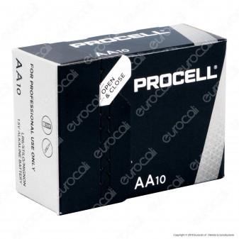 Procell Duracell Industrial Alcaline Stilo AA - Box 10 Batterie