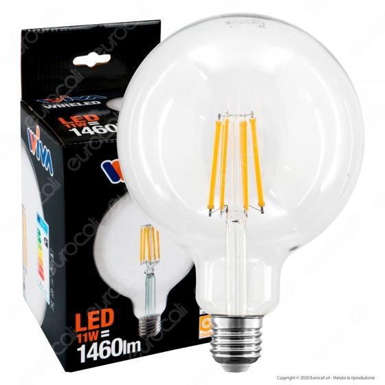 Wiva Lampadina LED E27 11W Globo G125 Filament - mod. 12100562 / 12100563