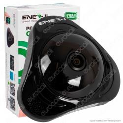 Ener-J Smart Wi-Fi Panoramic VR IP Camera 360° Telecamera di Sorveglianza Sensore 1.3MP Infrarossi 960p - mod. IPC1014