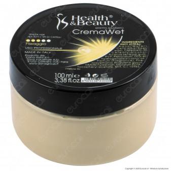 Health & Beauty Crema Wet Professionale Capelli Effetto Bagnato - Barattolo da 100ml