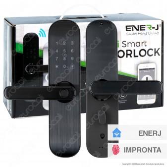 Ener-J Wi-Fi Smart Doorlock Kit Serratura e Maniglie per Porte Apertura a Sinistra 5in1 Colore Nero - mod. SHA5276