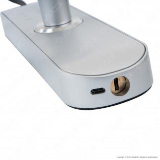 Ener-J Wi-Fi Smart Doorlock Kit Serratura e Maniglie per Porte Apertura a Sinistra 5in1 Colore Argento - mod. SHA5278