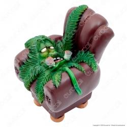 CannaBuds Posacenere da Tavolo in Poliresina con Coperchio Antiodore - Sofa Leaf