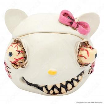 CannaBuds Posacenere da Tavolo in Poliresina con Coperchio Antiodore - Kitty Monster