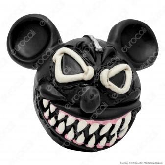 CannaBuds Posacenere da Tavolo in Poliresina con Coperchio Antiodore - Mickey Monster