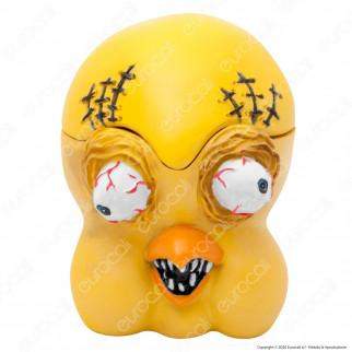 CannaBuds Posacenere da Tavolo in Poliresina con Coperchio Antiodore - Tweety Monster