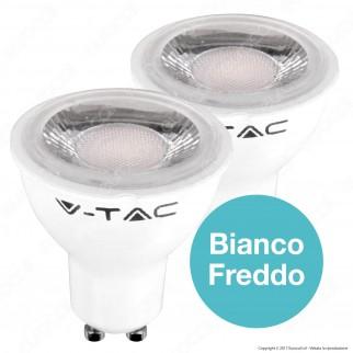 10 Lampadine LED V-Tac VT-2108D Faretto LED GU10 6,5W Spotlight 38° Dimmerabile - Pack Risparmio