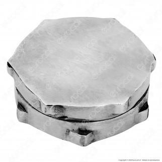 Grinder Tritatabacco Black Leaf 2 Parti in Metallo