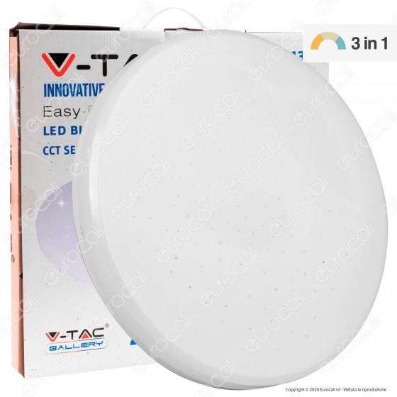 V-Tac VT-8436 Plafoniera LED 36W Changing Color 3in1 Forma Circolare Effetto Cielo Stellato - SKU 7608