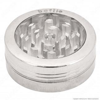 Grinder Tritatabacco Bofil Flat 2 Parti in Plastica e Metallo