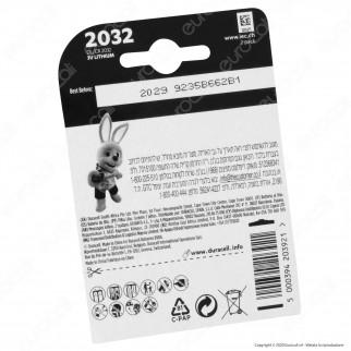 Duracell Lithium CR2032 / CR / DL2032 / BR2032 Pile 3V - Blister 2 Batterie