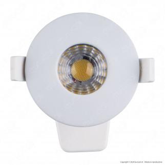 Ener-J Faretto LED 8W da Incasso Rotondo Bianco Wi-Fi 3in1 Dimmerabile Resistente al Fuoco IP44 - mod. SHA5296
