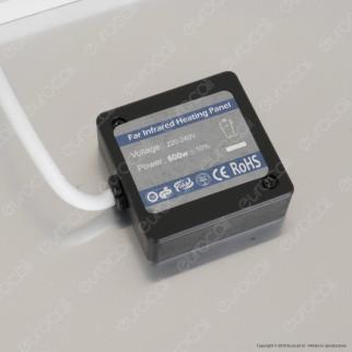 Ener-J Pannello Radiante per Riscaldamento a Infrarossi 100x60 600W a Superficie o Sospensione con Driver - mod. IH1004