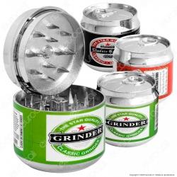 Grinder Tritatabacco 3 Parti in Metallo Lattina di Birra