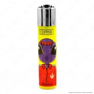 Clipper Large Colore Traslucido Fantasia Monster Weed 2 - Box da 48 Accendini