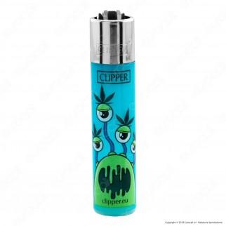 Clipper Large Colore Traslucido Fantasia Monster Weed 2 - 4 Accendini