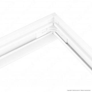 Sure Energy Supporto in Alluminio con Clip per Montaggio Esterno Pannelli LED 120x60 - mod. T403