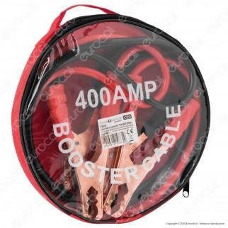 CFG Luce Quadra 2 Cavi Professionali con Morsetti per Batteria Auto in Rame Lunghezza 2 Metri - mod. ES020