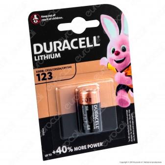 Duracell Lithium Ultra Photo CR123 Pila Al Litio - Blister 1 Batteria