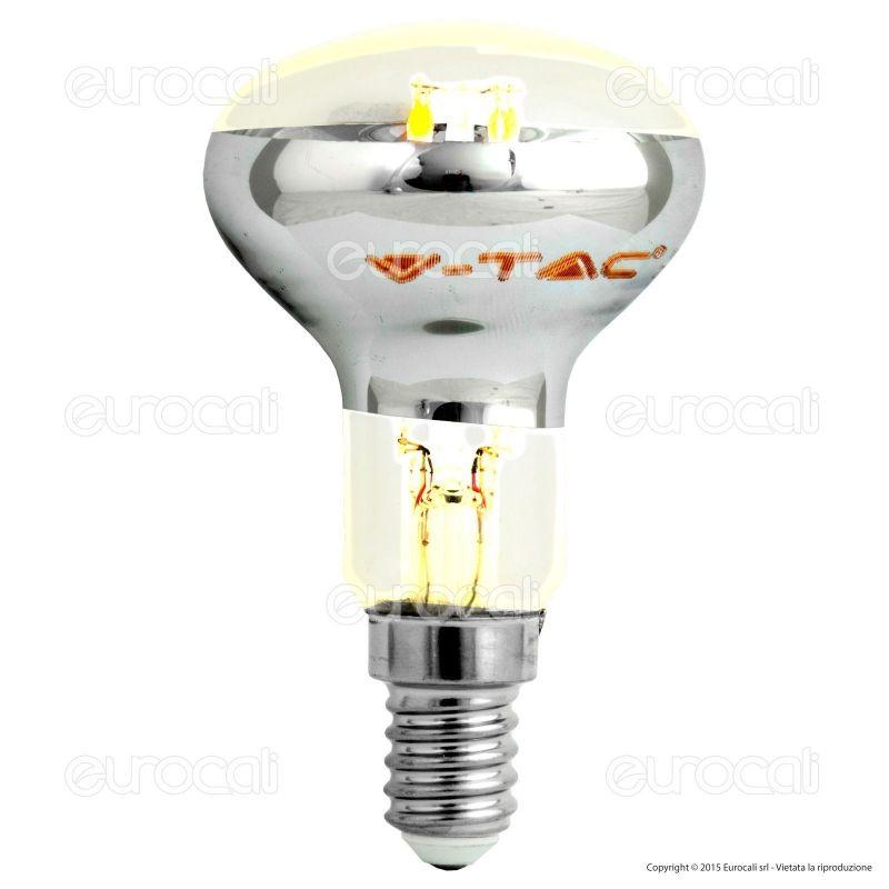 lampadina led prezzo : Tac VT-1976 Lampadina LED E14 4W Bulb Reflector R50 Filamento - SKU ...