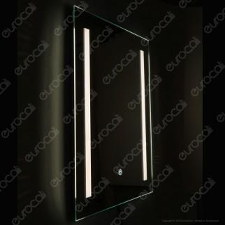 V-Tac VT-8701 Lampada LED a Specchio Rettangolare da Parete 27W 3in1 IP44 Dimmerabile con Anti Appannamento - SKU 40461