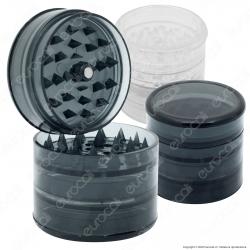 Grinder Tritatabacco 5 Parti in Plastica Trasparente