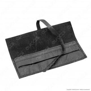 Il Morello Portacartine in Vera Pelle Colore Nero Fatto a Mano