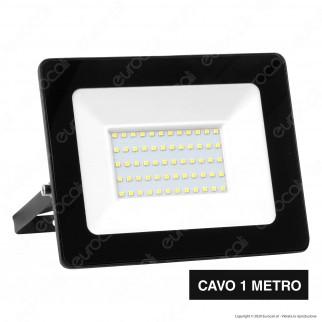 Sure Energy Faro LED SMD 50W IP65 Ultrasottile Colore Nero - mod. T207