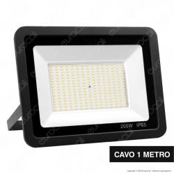 Sure Energy Faro LED SMD 200W IP65 Ultrasottile Colore Nero - mod. T238