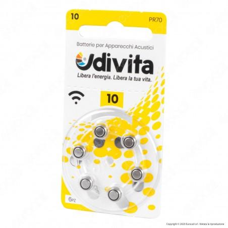 Udivita Misura 10 - Blister 6 Batterie per Protesi Acustiche