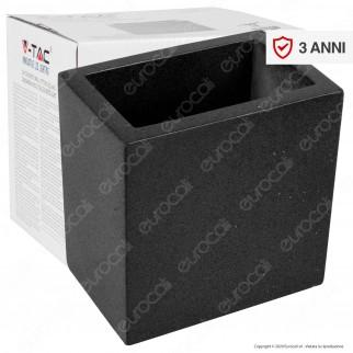 V-Tac VT-892 Applique Portalampada da Muro Concrete Wall Fitting Grigio Scuro per Lampadine G9 - SKU 8692