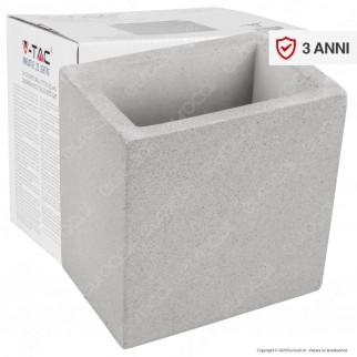 V-Tac VT-892 Applique Portalampada da Muro Concrete Wall Fitting Grigio Chiaro per Lampadine G9 - SKU 8693