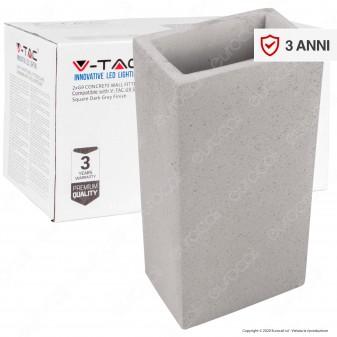 V-Tac VT-893 Applique Portalampada Doppio da Muro Concrete Wall Fitting Grigio Chiaro per 2 Lampadine G9 - SKU 8695