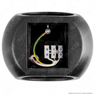V-Tac VT-891 Applique Portalampada Rotondo da Muro Concrete Wall Fitting Grigio Scuro per Lampadine G9 - SKU 8690
