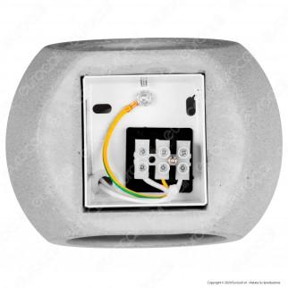 V-Tac VT-891 Applique Portalampada Rotondo da Muro Concrete Wall Fitting Grigio Chiaro per Lampadine G9 - SKU 8691
