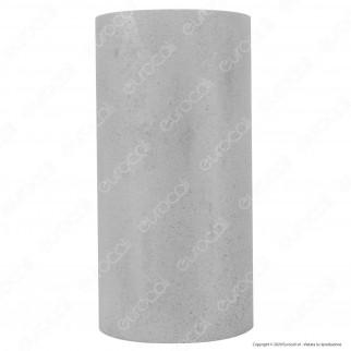 V-Tac VT-894 Applique Cilindro Portalampada Doppio da Muro Concrete Wall Fitting Grigio Chiaro per 2 Lampadine GU10 - SKU 8697