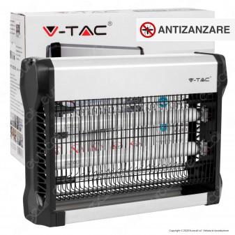 V-Tac VT-3220 Zanzariera Elettrica Insect Killer Lampada UV 20W Luce Blu Attira ed Elimina Insetti - SKU 11180