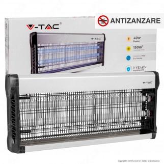 V-Tac VT-3240 Zanzariera Elettrica Insect Killer Lampada UV 40W Luce Blu Attira ed Elimina Insetti - SKU 11182