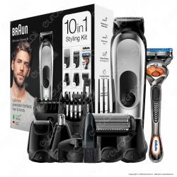 Rasoio Elettrico Uomo Braun MGK7221 Barba e Capelli 10in1 con Gillette Fusion