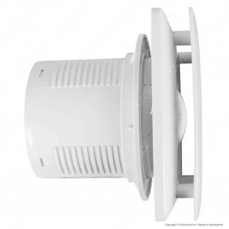 Ener-J Aspiratore 12W a Ventola 7 Pale per Condotti 100mm IPX4 95m³/h - mod. VF1001
