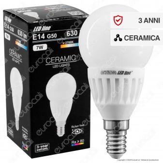 LED Line Lampadina LED E14 7W MiniGlobo P50 in Ceramica - mod. 470195 / 470201