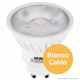 LED Line Lampadina LED COB GU10 8W Faretto Spotlight 24° in Ceramica - mod. 470294 / 470300