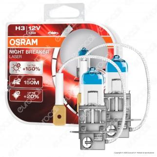 Osram Night Breaker Laser 55W - 2 Lampadine H3