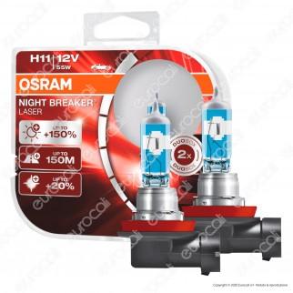 Osram Night Breaker Laser 55W - 2 Lampadine H11