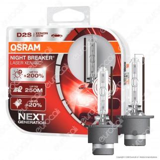 Osram Night Breaker Laser Xenarc Fari Xeno 35W - 2 Lampadine D2S