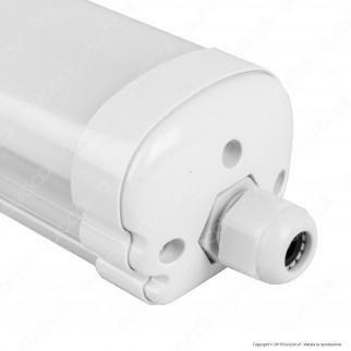 V-Tac VT-6076 Tubo LED Plafoniera 18W Lampadina 60cm Impermeabile - SKU 6283 / 6282