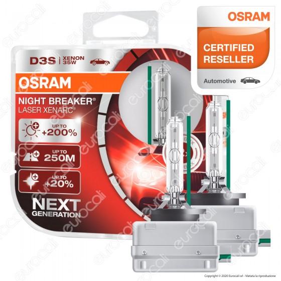 Osram Night Breaker Laser Xenarc Fari Xeno 35W - 2 Lampadine D3S